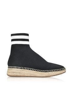 ALEXANDER WANG  Alexander Wang Alexander Wang Dylan Black And White Knit  High Top Sneakers W