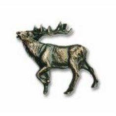 Buck Snort Lodge Cabinet Knobs and Pulls - Walking Elk - LF