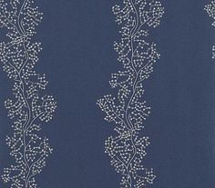 Sparkle Coral (213039) - Sanderson Wallpapers - A delicate, organic design with a stripe effect created from coral like tiny glittering sequins.  Shown in the indigo and silver colourway. Vinyl wallcovering. Please request sample for true colour match.