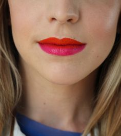 Spring/Summer Trend:Two-Tone Lipstick. (What do you think? Would you try it?)