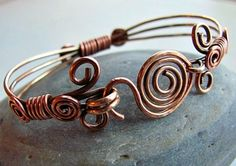 Bronze and Copper Wire Bracelet