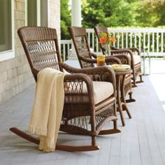 Providence Rocking Chair with Cushion from Frontgate...coming to a porch near me!