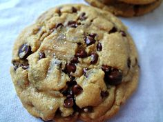 Browned Butter, Salted, Peanut Butter Chocolate Chip Cookies   recipe from The Cooking Actress