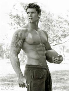 Colin Wayne © DAVID VANCE davidvanceprints.com # men hot guy abs pecs eye candy bare chest hunk nice arms male fitness model body adonis shirtless bodybuilder