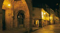Ciudad vieja de Santiago de Compostela, España