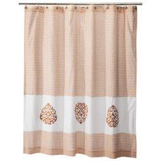 Mudhut™ Hope Embroidered Shower Curtain - Orange