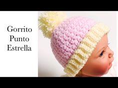 Gorro a crochet o ganchillo con punto estrella para bebe fácil, Como tejer Gorros, Crochet for Baby - YouTube Crochet Baby Jacket, Crochet Baby Beanie, Baby Beanie Hats, Hat Crochet, Crochet Hats For Boys, Star Stitch, Boy Or Girl, Stars, Youtube