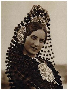 Typical 'Carmen' image of Spanish-Gypsy woman