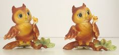 Rare Linda Powell Hoot Owl Figurine Designers Cloverleaf Lane Collection 1980