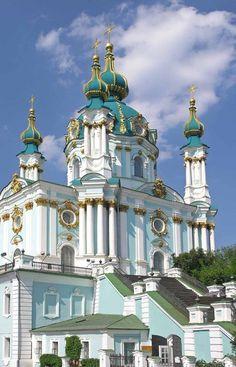 Бартоломео Растрелли, Андреевская церковь, 1749 - 1754 гг. Киев, Украина