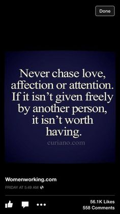 Never Chase Love