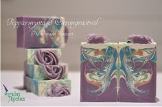 Made by Gron Lycka . The butterfly swirl. Handmade soap art