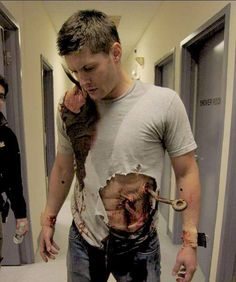 Deans Hell SFX makeup in Supernatural sfx special effects #unwoundfx