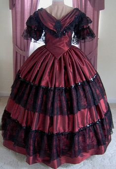 FOR ORDERS ONLY  1800s Victorian Dress  1860s by MissLisa1867, $500.00