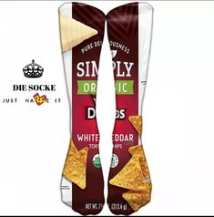 Lustige Hohe Socken mit Chips Print Original Design, Shops, Pajama Pants, Pajamas, Pure Products, Fashion, Cool Socks, Happy Moments, Women's