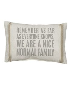 Natural 'As Far As Everyone Knows' Pillow