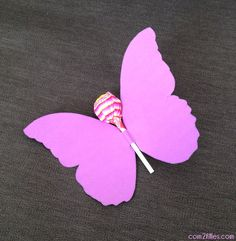 Butterfly birthday card with lollipop!