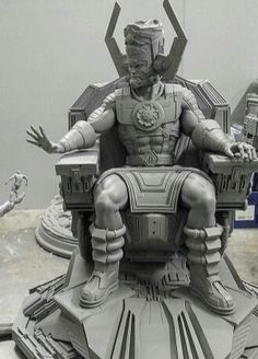 """"""" HIGH 5 """"  ... Galactus  and Silver Surfer  °° Comics Love, Marvel Comics Art, Marvel Dc, Marvel Statues, Silver Surfer, Character Poses, Comic Pictures, Disney Marvel, Custom Action Figures"""