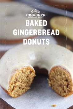 Baked Gingerbread Donuts with Maple Glaze | Madhava