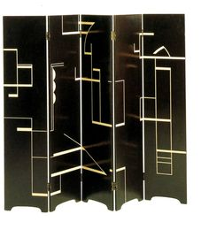Eileen Gray, Black Screen, 1920s. << beautiful and contemporary style even today