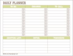 Daily Planner and To Do list for Home Organization Notebooks | Jenallyson - The Project Girl - Fun Easy Craft Projects including Home Improvement and Decorating - For Women and Moms