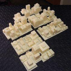 3D Prints of Sim City Houses & Buildings