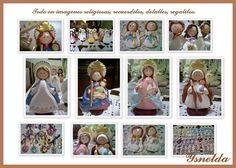 Ysnelda Solano hecho a mano: Virgencitas en Masa Flexible