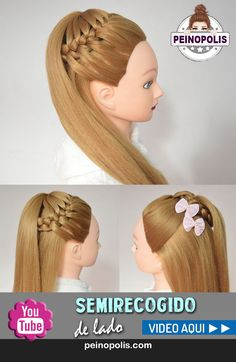 Peinados con Trenza de lado para cabello largo