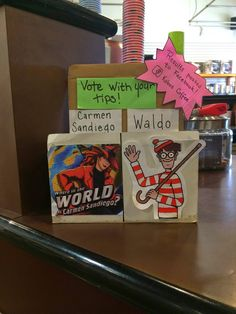 "This week's ""Tip Jar Showdown"" was very close, but because of such an outpouring of favor at our Market St. Café, Carmen Sandiego won this week."