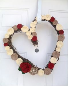 Door decor for the time between Christmas and Valentine's day! $45