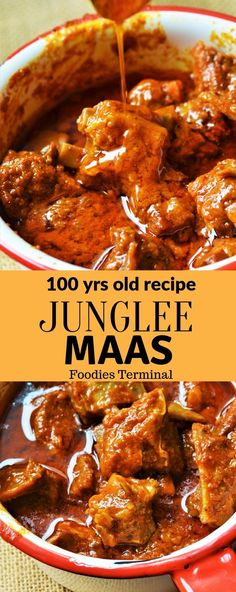 Authentic Rajasthani Junglee Maas that tastes finger-licking good & super easy to make. This traditional Indian Mutton curry recipe is Indian Mutton Recipes, Easy Indian Recipes, Old Recipes, Meat Recipes, Asian Recipes, Mexican Food Recipes, Vegetarian Recipes, Cooking Recipes, Healthy Recipes