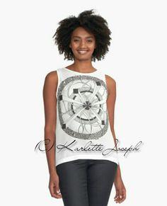 Maya Mandala Tank Top  http://www.redbubble.com/people/karlettejoseph/works/22759062-maya-mandala?p=contrast-tank&rel=carousel  #tanktop #ladieswear #casualwear #mandala #blackandwhite #art