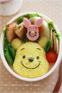 簡単キャラ弁☆プーさんおにぎり♪ by momo**