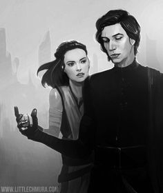 "littlechmura: "" FANART FRIDAY! ""I need someone to show me my place in all this. "" Hello, my dudes. Back at it again with reylo feels. Also, I just lunched my patreon page - don't hesitate and come..."