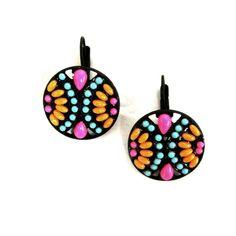 Gypsy Soule Floral Mosic Earrings DE456