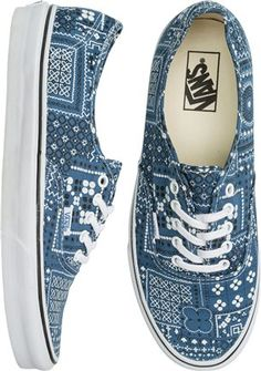 Vans Authentic printed shoe. http://www.swell.com/New-Arrivals-Womens/VANS-AUTHENTIC-SHOE-36?cs=BU