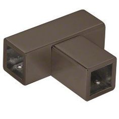 """CRL Oil Rubbed Bronze """"T"""" Junction Bracket for Square Bar by CR Laurence by CR Laurence. $27.96. """"T"""" Junction Bracket for Square Bar. Provides Fixed Panel Support for Enclosures Not Going to the Ceiling. New Square Tubing Matches Geometry of Many Popular CRL Hinges. No Hole Drilling Required in Glass. """"T"""" Junction Bracket for Square Bar New Square Tubing Matches Geometry of Many Popular CRL Hinges Provides Fixed Panel Support for Enclosures Not Going to the Ceiling No Hole D..."""