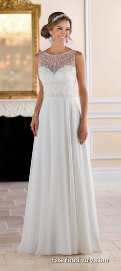 Stella York Wedding Dress 2018 - New Collections Designer Wedding Dress Tulle and Lace Wedding Dress (69)