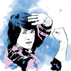 Pochoir art StreetArt Jackie Chan