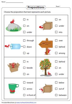 Grab our printable preposition worksheets with examples and exercises like complete the sentences with prepositions, prepositional phrases and more! English Grammar For Kids, Learning English For Kids, English Lessons For Kids, Kids English, Learn English Words, English Prepositions, English Worksheets For Kids, Prepositions Worksheets, Kumon