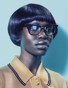 Geek Girl Fashion - This geek girl fashion story by Miles Aldridge is captured for the pages of Vogue Italia Beauty. Spotlighting a wardrobe of exaggerated argyle swea. Beauty Photography, Portrait Photography, Fashion Photography, Stunning Photography, Beauty Editorial, Editorial Fashion, Geek Girl Fashion, Afro, Miles Aldridge