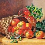 Basket With Apples DIY bead embroidery needlework kit wall decor housewarm gift
