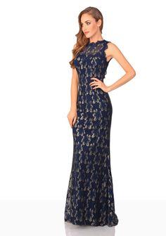 Abendkleid aus dunkelblauer Spitze - günstig bestellen bei VIP Dress  http://www.vipdress.de/de/abendkleider/2317-abendkleid-aus-dunkelblauer-spitze.html