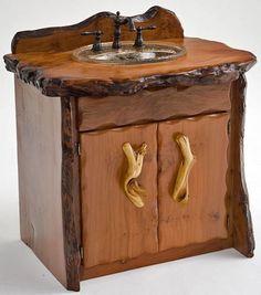 Barnwood Furniture | Bathroom Furniture, Rustic Vanities, Barnwood Vanity, Hammered Copper ...