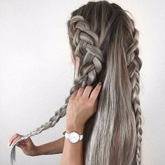 Image uploaded by Find images and videos about style, pretty and hair on We Heart It - the app to get lost in what you love. Teen Hairstyles, Creative Hairstyles, Pretty Hairstyles, Braided Hairstyles, Hair Inspo, Hair Inspiration, Crazy Hair, Hair Pictures, Hair Dos