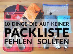 10 Dinge die auf keiner Backpacking Packliste fehlen sollten #weltreise #packliste #reisen