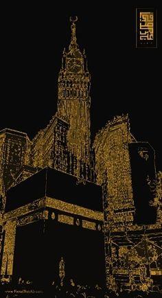 Black Gold Artwork Hd Wallpaper Mecca Makkah مكة مكة المكرمة Designed By Faisalbinali 20 Hd Wallpaper Hd Wallpaper Iphone Wallpaper Pc