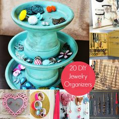 Pinner said:  20 DIY Jewelry Organizers You'll Want to Make - diycandy.com