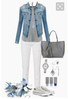 Michael kors, witchery, spring street, phillip gavriel and burberry petite fashion Mode Outfits, Jean Outfits, Fall Outfits, Summer Outfits, Casual Outfits, Fashion Outfits, Womens Fashion, White Jeans Outfit Summer, Petite Fashion