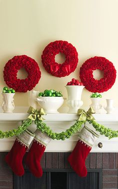 christmas-fireplace-decorating-ideas